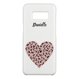 Pretty Pink Dance Heart Samsung S8 Case
