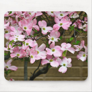 Pretty Pink Dogwood Flowers Mouse Pad