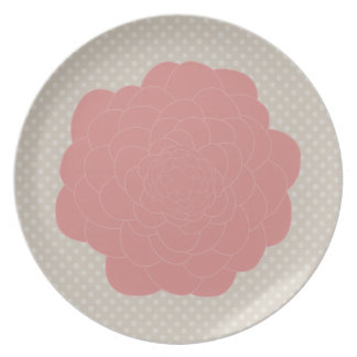 Pretty Pink Doodle Flower Plate