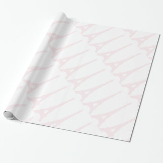 Pretty Pink Eiffel Tower Wrapping Paper
