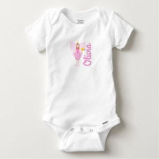 Pretty Pink Fairy Customisable Gerber Baby Vest Baby Onesie