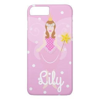 Pretty Pink Fairy Customisable iPhone 7+ Case