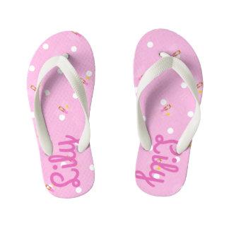 Pretty Pink Fairy Customisable Kids Flip Flops