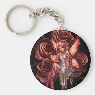pretty pink fairy key ring