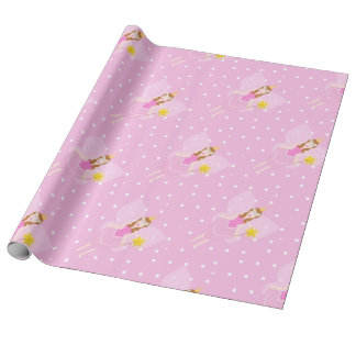 Pretty Pink Fairy Wrapping Paper