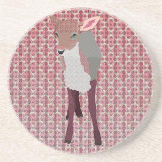 Pretty Pink Fawn Coaster