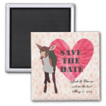 Pretty Pink Fawn II Elegant Damask Save The Date M