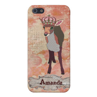 Pretty Pink Fawn  iPhone Case Cover For iPhone 5