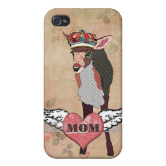 Pretty Pink Fawn Mom Heart iPhone Case iPhone 4 Cover