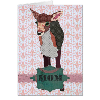 Pretty Pink Fawn Mother's  Day Card