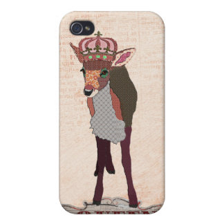 Pretty Pink Fawn Queen i iPhone 4/4S Case