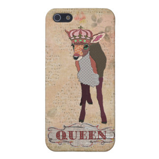 Pretty Pink Fawn Queen iPhone Case Covers For iPhone 5