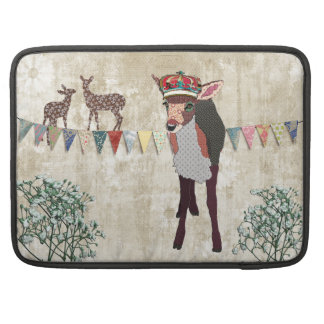 Pretty Pink Fawn White Vintage Macbook Sleeve Sleeve For MacBook Pro