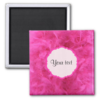 Pretty Pink Feathers Magnet