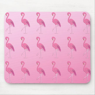 Pretty pink flamingo mouse pad