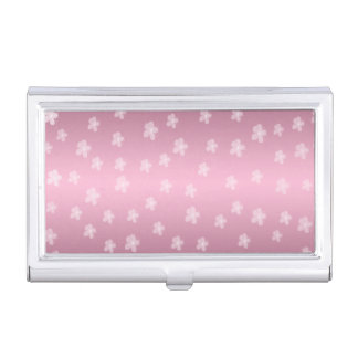 Pretty Pink Floral Business Card Holder