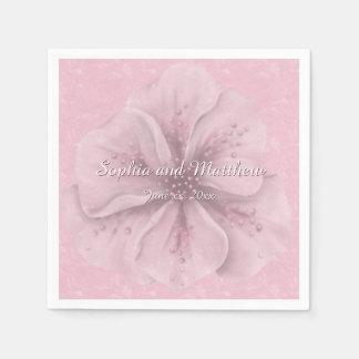 Pretty Pink Floral Disposable Serviettes