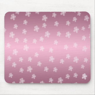 Pretty Pink Floral Mouse Pad