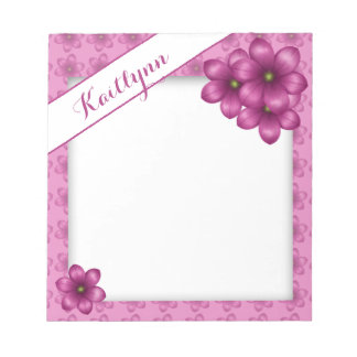 Pretty Pink Floral Notepad