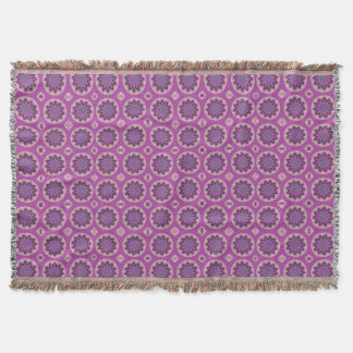 Pretty Pink Floral Pattern Throw Blanket