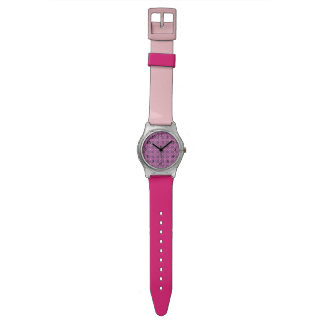 Pretty Pink floral pattern Wrist Watches