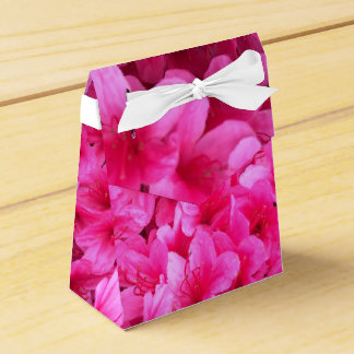 Pretty Pink Floral Wedding Favour Boxes