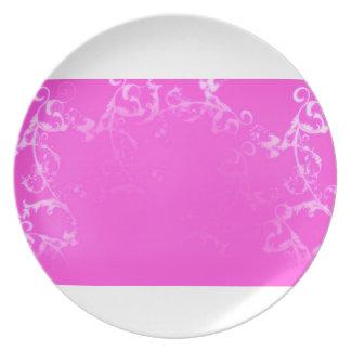 pretty, pink, flourish, flower, dessert,plate plate
