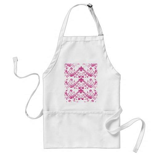 Pretty Pink Flourish Girly Elegant Floral Print Aprons