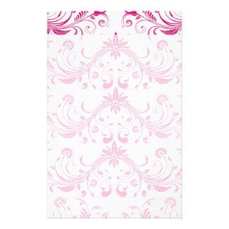 Pretty Pink Flourish Girly Elegant Floral Print Custom Stationery