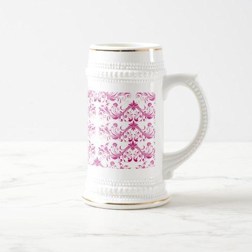 Pretty Pink Flourish Girly Elegant Floral Print Mug