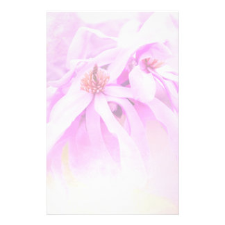 Pretty Pink Flower Blossoms Stationery