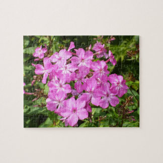 Pretty Pink Flower Bouquet Jigsaw Puzzle