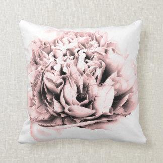 Pretty pink flower cushion