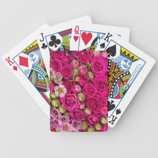 Pretty pink flower deck of cards
