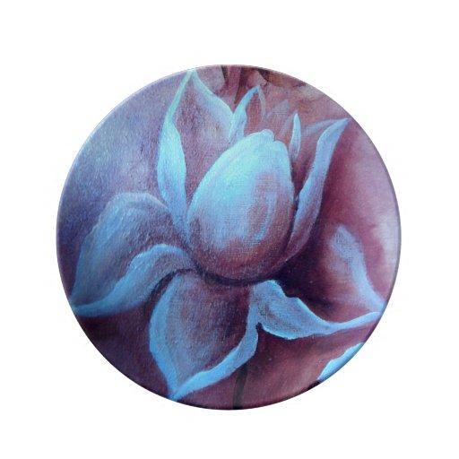 Pretty pink flower decorative plate porcelain plates