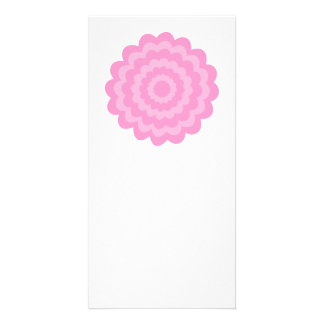 Pretty pink flower. White Background. Customized Photo Card