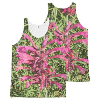 Pretty Pink Flowers All-Over Print Singlet