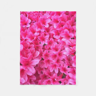 Pretty Pink Flowers Blanket