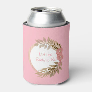 Pretty Pink Flowers Can Cooler