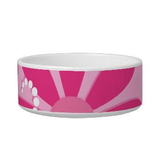 Pretty Pink Flowers Cute Retro Daisy Pattern Bowl