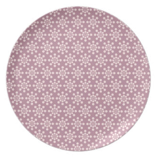 Pretty Pink Flowers Pattern Plates