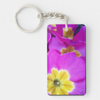 Pretty Pink Flowers Photography Key Ring