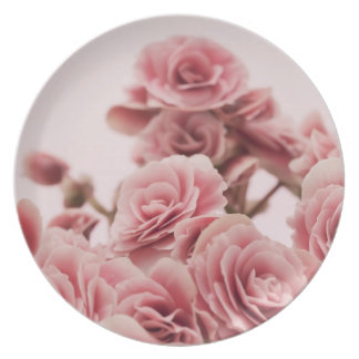 Pretty Pink flowers Dinner Plates