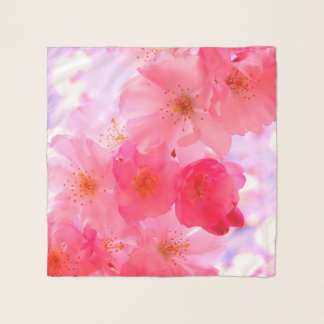 Pretty pink flowers scarf