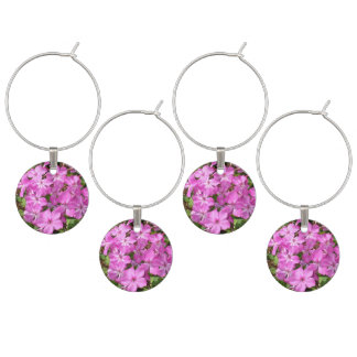 Pretty Pink Flowers Wine Charm