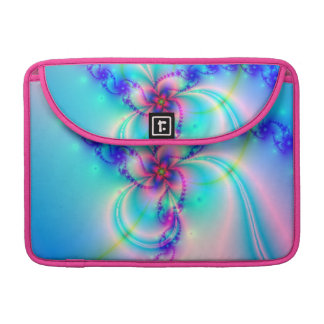 Pretty Pink Fractal Flower Sleeve For MacBooks