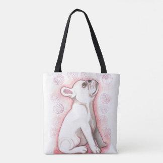 Pretty pink French Bulldog cute tote