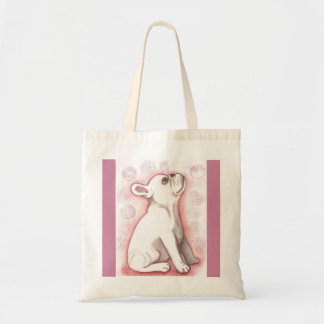 Pretty pink French Bulldog puppy tote
