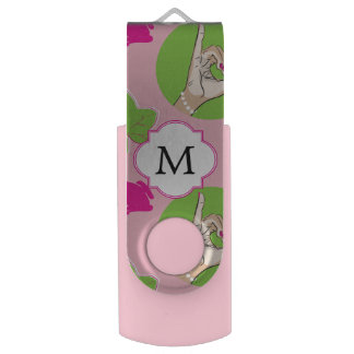 Pretty Pink Frog USB Flash Drive