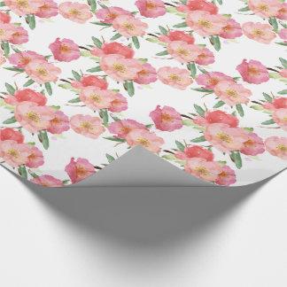 Pretty Pink Garden Flowers Watercolor